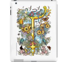"The Illustrated Alphabet Capital  T  ""Getting personal"" iPad Case/Skin"