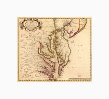 Vintage Map of The Chesapeake Bay (1719) Unisex T-Shirt