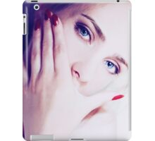 Close up fashion portrait of seductive sexy woman iPad Case/Skin