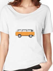 Tin Top Early Bay standard orange and white Women's Relaxed Fit T-Shirt