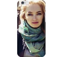 prefect skin and long fluffy curled hairstyle. iPhone Case/Skin