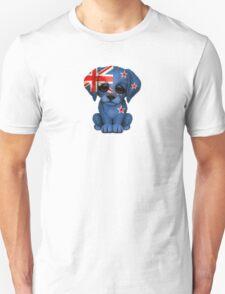 Cute Patriotic New Zealand Flag Puppy Dog Unisex T-Shirt