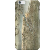 Vintage Pictorial Map of Chicago (1868) iPhone Case/Skin