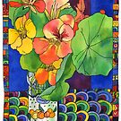 Nasturtiums in Jam Jar by TangerineMeg