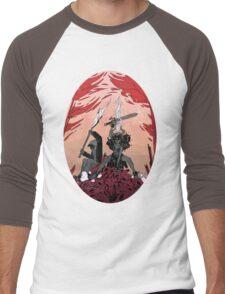 Warrior skull and girl Men's Baseball ¾ T-Shirt
