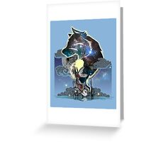 Wolf and Koi Greeting Card