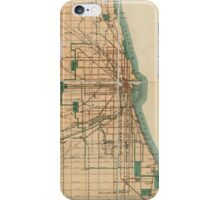 Vintage Map of Chicago Illinois (1889) iPhone Case/Skin