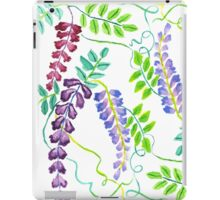 Hand-Painted Watercolor Japanese Wisteria Flowers iPad Case/Skin