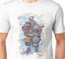 An intrepid explorer with owl and goldfish Unisex T-Shirt