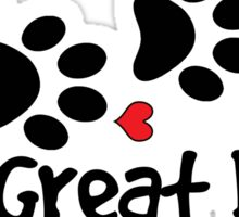 DOG PAWS LOVE GREAT DANE DOG PAW I LOVE MY DOG PET PETS PUPPY STICKER STICKERS DECAL DECALS Sticker