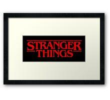 Stranger Things (Series TV) Framed Print
