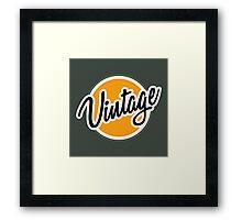 Vintage Badge Framed Print