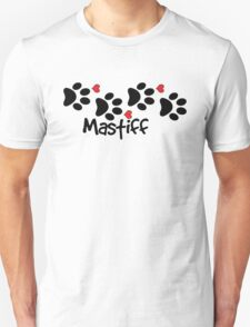 DOG PAWS LOVE MASTIFF DOG PAW I LOVE MY DOG PET PETS PUPPY STICKER STICKERS DECAL DECALS Unisex T-Shirt