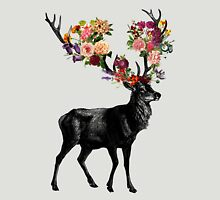 Spring Itself Deer Floral Unisex T-Shirt