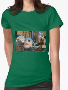 Coconut pirate heads Womens Fitted T-Shirt