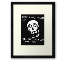 Papyrus - Undertale Quotes Framed Print