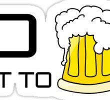 Beer Loving Funny T-Shirt Sign Sticker