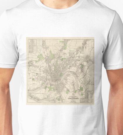 Vintage Map of Cincinnati Ohio (1915) Unisex T-Shirt