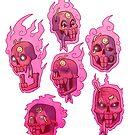 My friendly little red skull by Caelestie