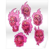 My friendly little red skull Poster