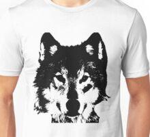 Loup Noir et Blanc Unisex T-Shirt