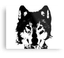 Loup Noir et Blanc Metal Print