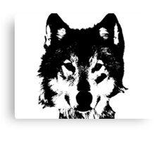 Loup Noir et Blanc Canvas Print