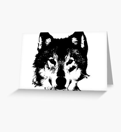 Loup Noir et Blanc Greeting Card