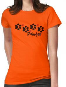 DOG PAWS LOVE POINTER DOG PAW I LOVE MY DOG PET PETS PUPPY STICKER STICKERS DECAL DECALS Womens Fitted T-Shirt