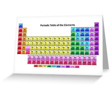 Shiny Periodic Table of the Chemical Elements Greeting Card