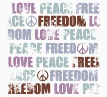 Love Peace Freedom Pattern  One Piece - Long Sleeve