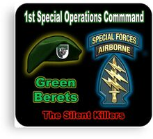 1st Special Operations Command Canvas Print