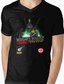 Final Fantasy VII Nintendo Style Mens V-Neck T-Shirt