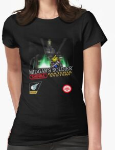 Final Fantasy VII Nintendo Style Womens Fitted T-Shirt