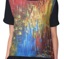 Gold Sky Abstract Chiffon Top