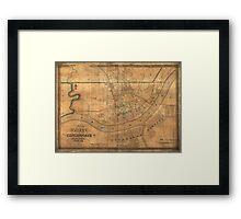 Vintage Map of Cincinnati Ohio (1838) Framed Print