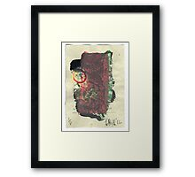 Gold and Red and Ocre, Vellum. 2016. Framed Print
