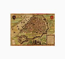 Vintage Map of Antwerp Belgium (1572) Unisex T-Shirt