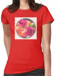 """Rose Bowl, circle"" Womens Fitted T-Shirt"