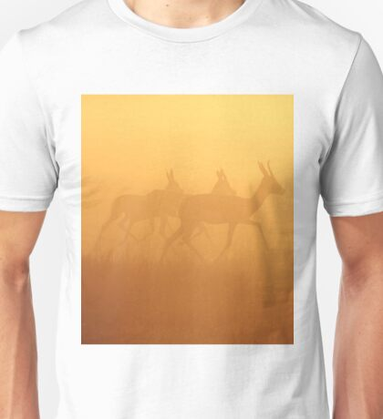 Springbok - African Wildlife Background - Majestic Gold Unisex T-Shirt