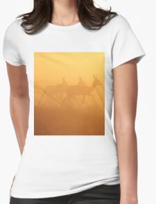Springbok - African Wildlife Background - Majestic Gold Womens Fitted T-Shirt