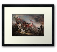 The Battle at Bunker's Hill by John Trumbull Framed Print