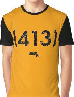 Area Code 413 Massachusetts Graphic T-Shirt