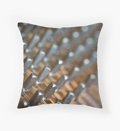Tuning Pins Throw Pillow