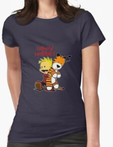 Calvin And doll hobbes Womens Fitted T-Shirt