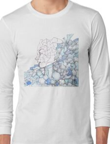 Abstracted Female Portrait Long Sleeve T-Shirt