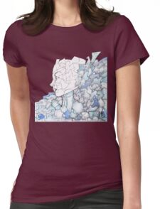 Abstracted Female Portrait Womens Fitted T-Shirt