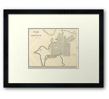 Vintage Map of Cienfuegos Cuba (1899) Framed Print