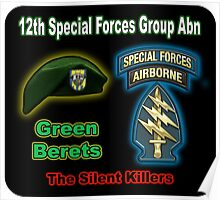 12th Special Forces Group Abn Poster