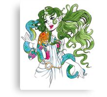Lady with Snake Canvas Print